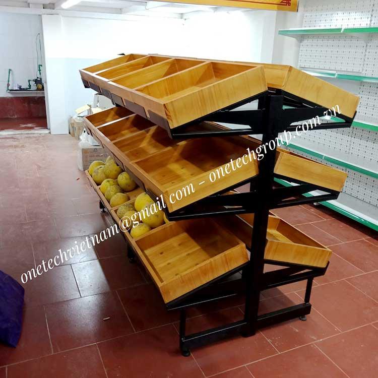 kệ gỗ bán hàng tạp hóa