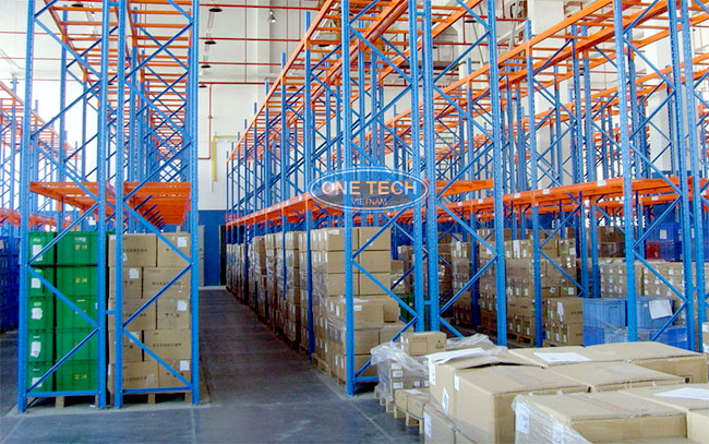 Onetech sản xuất và lắp đặt giá kệ lưu trữ kho hàng công nghiệp hàng đầu tại Việt Nam