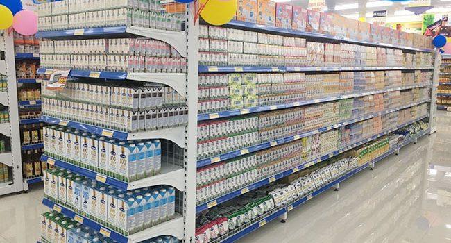 Giá kệ trưng bày sữa mẫu mã đẹp, giá rẻ tại Onetech