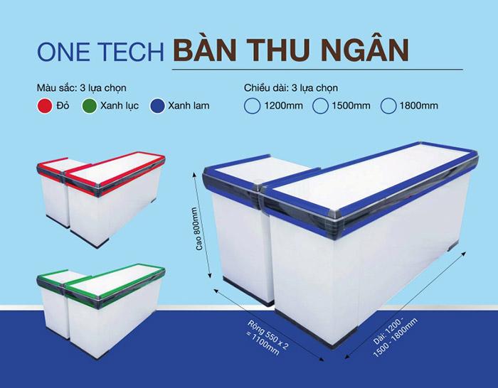 Quầy bàn thu ngân sản xuất, lắp đặt tại Onetech Việt Nam