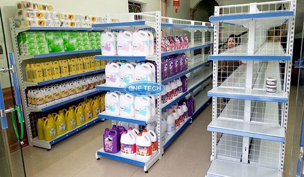 Mở siêu thị, cửa hàng tạp hóa cần loại giá kệ nào