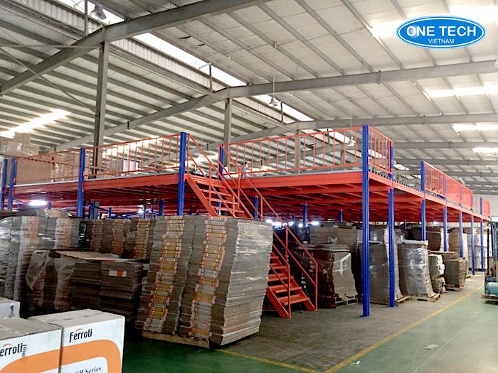Ferroli Asean lắp đặt các loại kệ sàn lửng Mezzaine 2 tầng