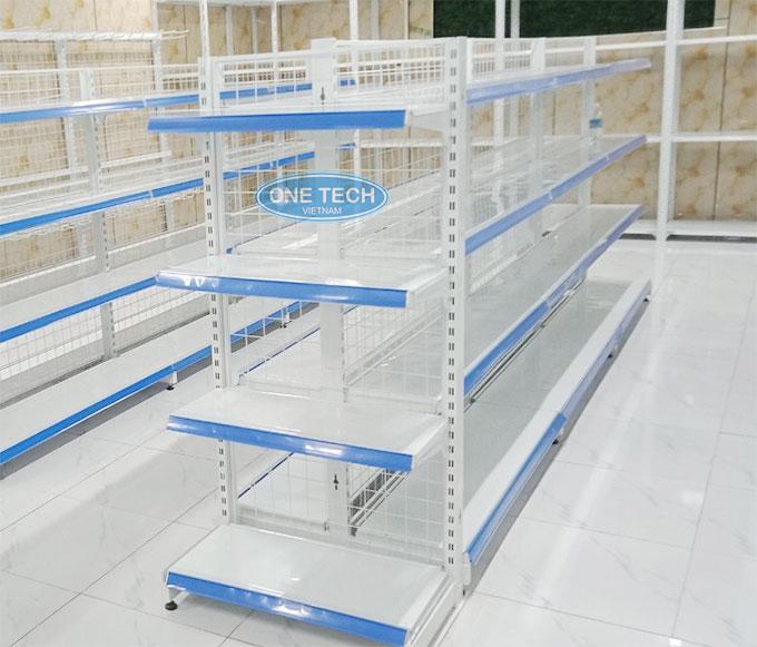 Mẫu kệ đôi bày hàng siêu thị Onetech 4 tầng